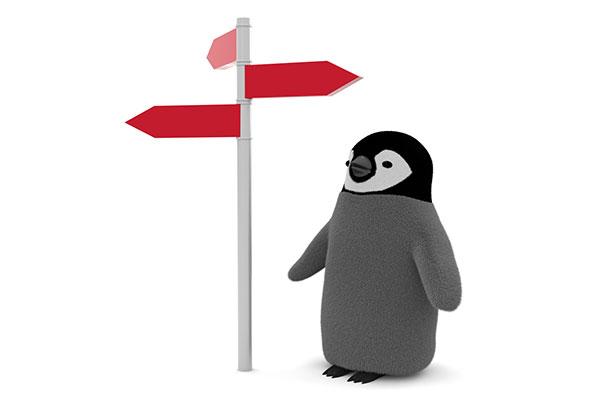 迷子のペンギン